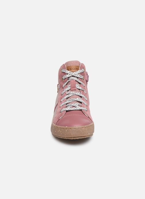Sneaker Geox J Kalispera Girl x WWF rosa schuhe getragen
