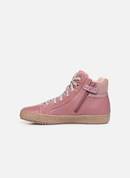 Sneaker Geox J Kalispera Girl x WWF rosa ansicht von vorne