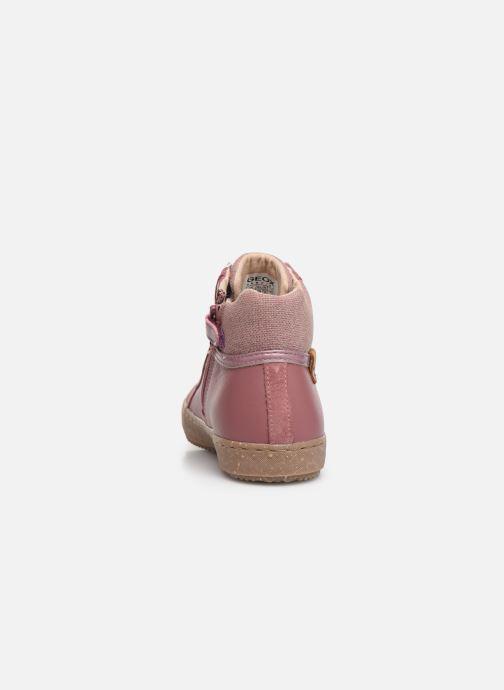 Sneaker Geox J Kalispera Girl x WWF rosa ansicht von rechts