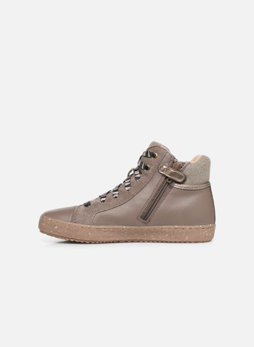 Sneakers Geox J Kalispera Girl x WWF Bruin voorkant