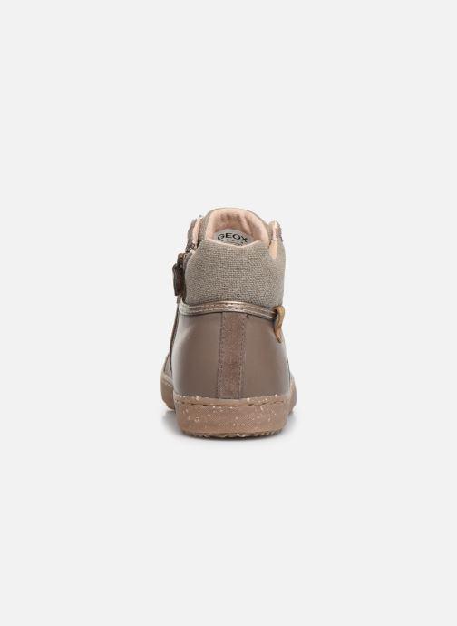 Sneakers Geox J Kalispera Girl x WWF Bruin rechts