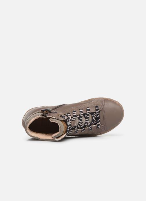 Sneaker Geox J Kalispera Girl x WWF braun ansicht von links