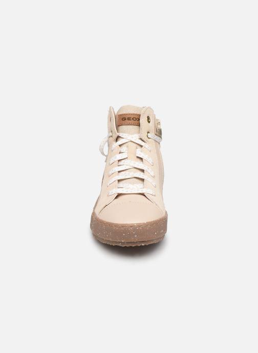 Baskets Geox J Kalispera Girl x WWF Blanc vue portées chaussures