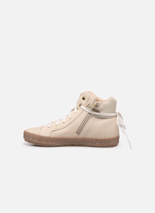 Sneakers Geox J Kalispera Girl x WWF Wit voorkant