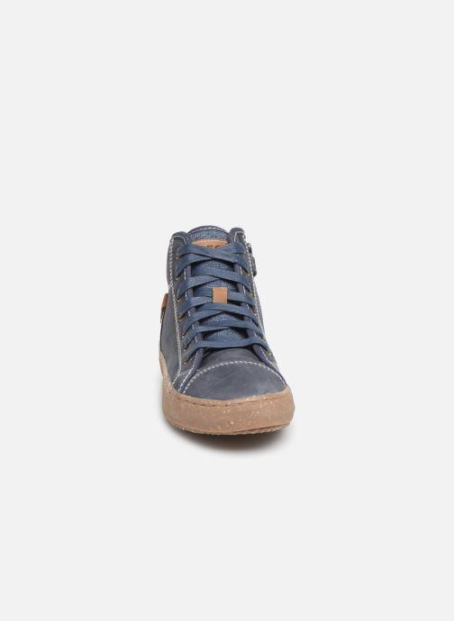 Baskets Geox J Alonisso Boy x WWF Bleu vue portées chaussures