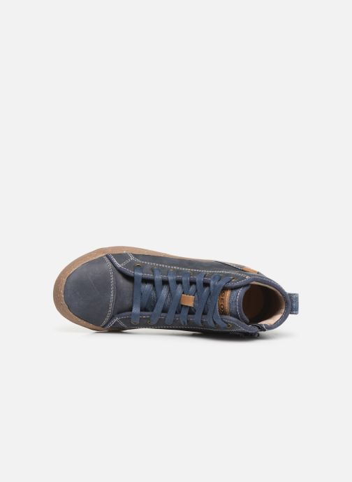 Baskets Geox J Alonisso Boy x WWF Bleu vue gauche