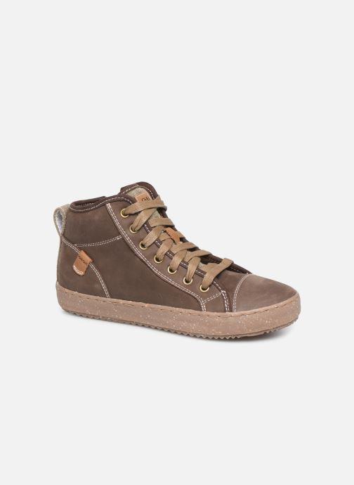 Sneakers Geox J Alonisso Boy x WWF Brun detaljeret billede af skoene