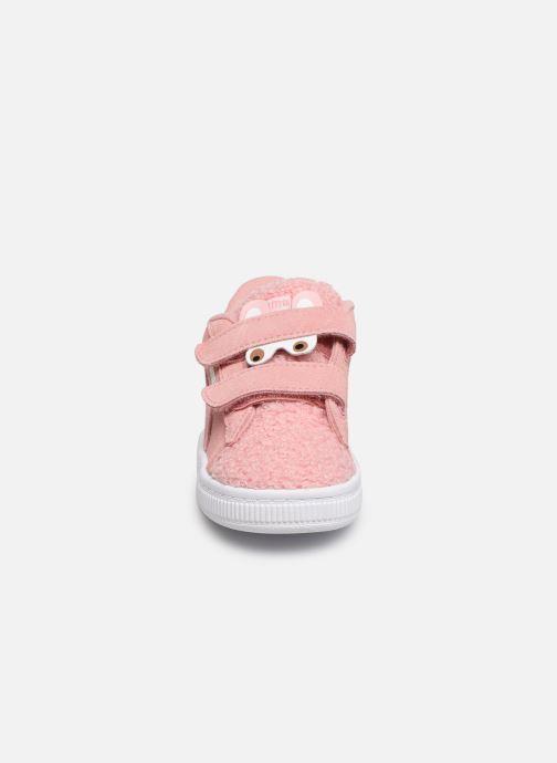 Baskets Puma S Winter Monster Rose vue portées chaussures