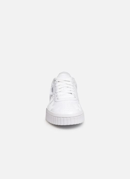 Sneaker Puma Cali Patent weiß schuhe getragen