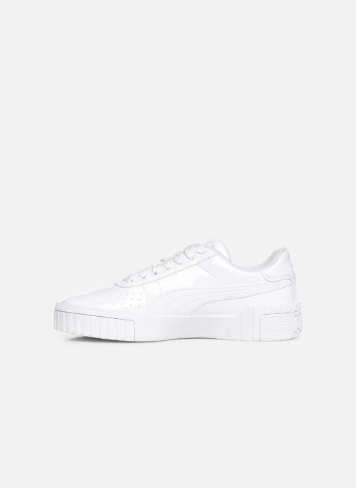 Baskets Puma Cali Patent Blanc vue face