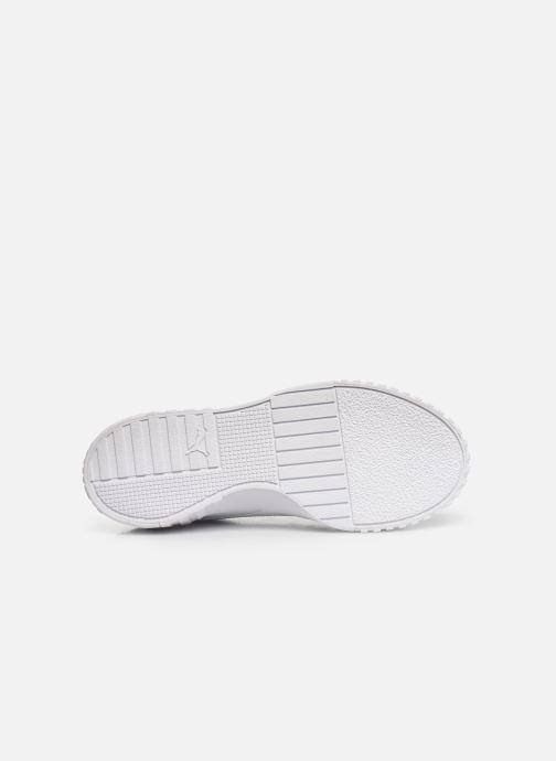 Baskets Puma Cali Patent Blanc vue haut