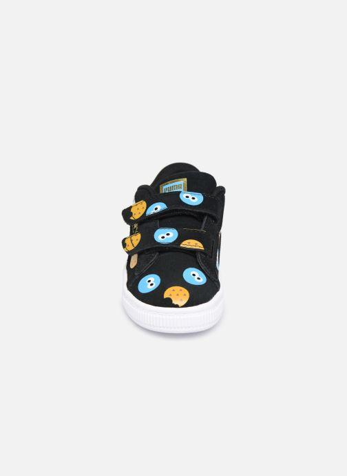 Baskets Puma Sesame Suede Badge Ac Noir vue portées chaussures