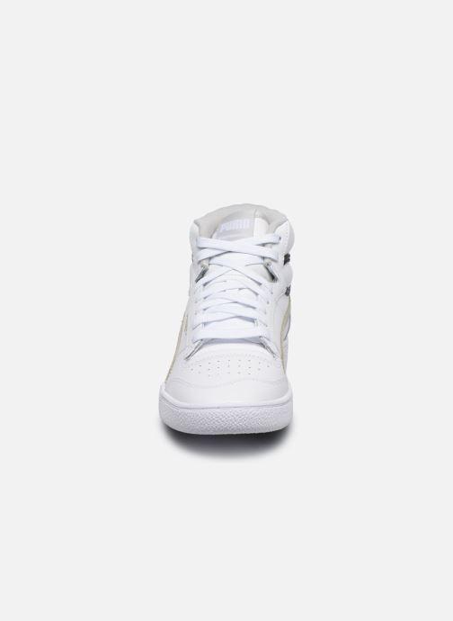 Sneaker Puma Ralph Sampson Mid weiß schuhe getragen
