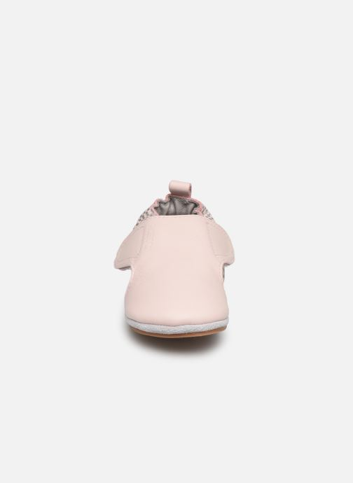 Chaussons Robeez Hector Rose vue portées chaussures