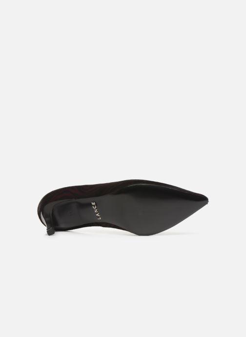 Zapatos de tacón Free Lance Itlys 4 Piping Pump Vino vista de arriba