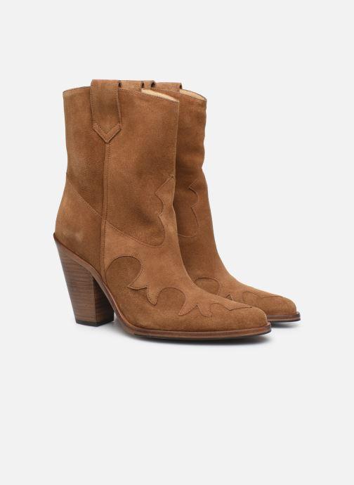 Bottines et boots Free Lance Jane 9 West Mid Botte Beige vue 3/4