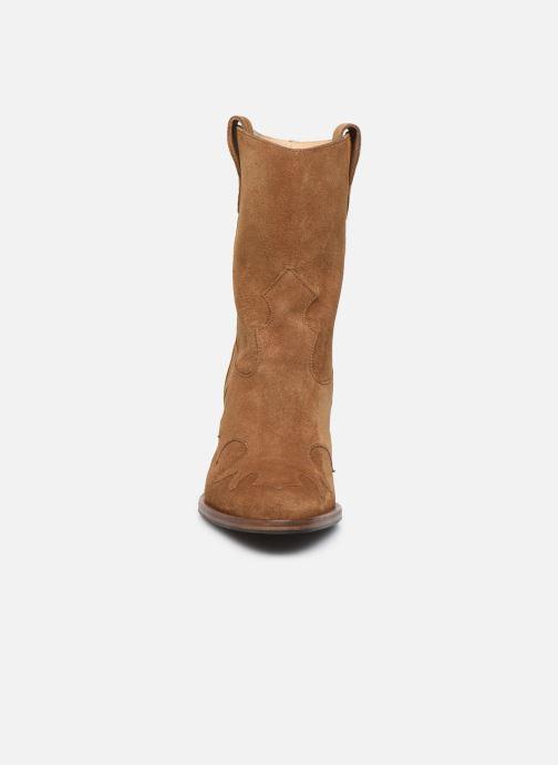 Bottines et boots Free Lance Jane 9 West Mid Botte Beige vue portées chaussures