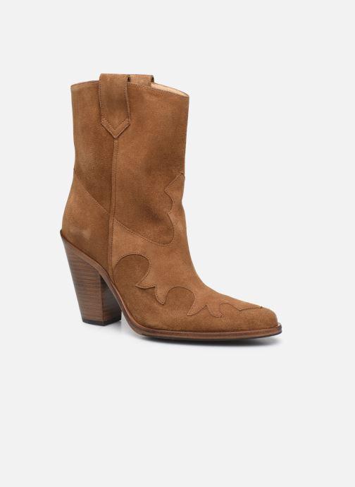 Bottines et boots Free Lance Jane 9 West Mid Botte Beige vue détail/paire