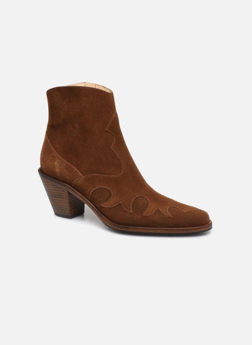 Bottines et boots Free Lance Jane 7 West Zip Boot Marron vue détail/paire