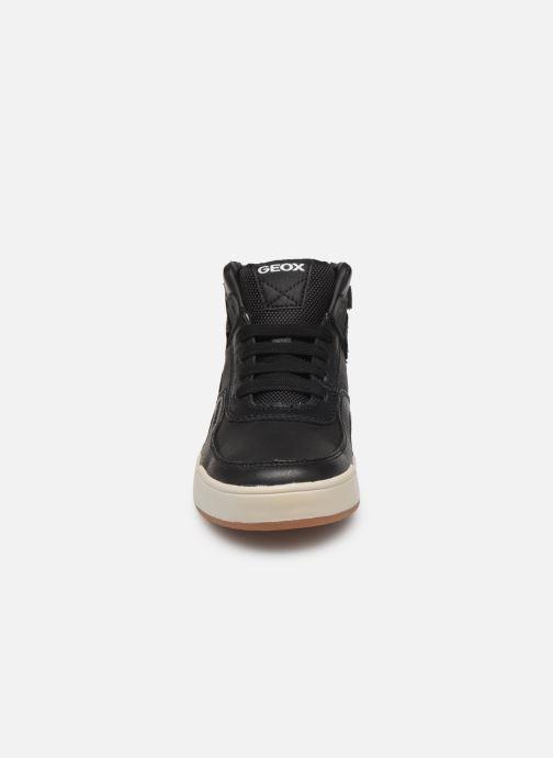 Baskets Geox J Perth Boy J947RA Noir vue portées chaussures