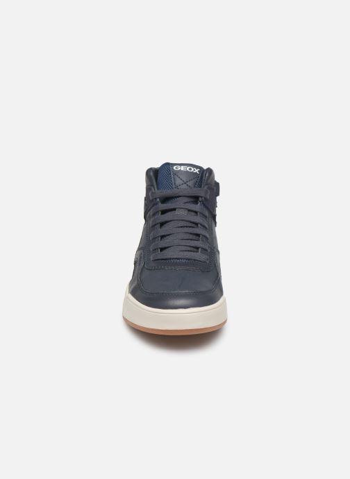 Baskets Geox J Perth Boy J947RA Bleu vue portées chaussures