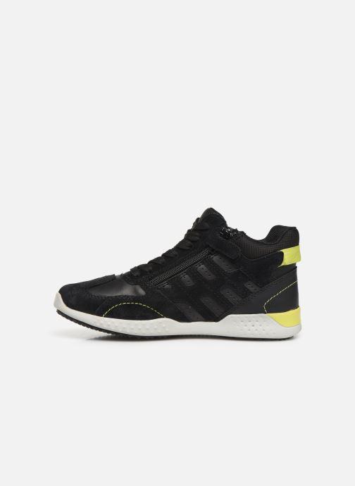 Sneakers Geox J Snake.2 Boy J94ABB Nero immagine frontale