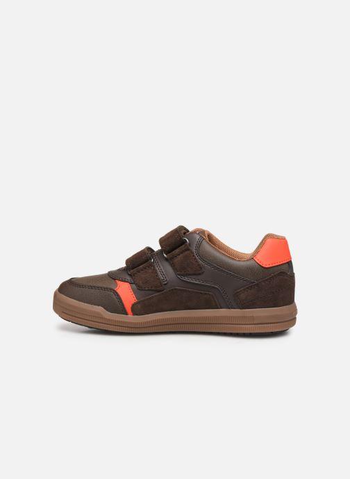 Sneakers Geox J Arzach Boy J944AD Bruin voorkant