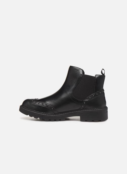 Boots en enkellaarsjes Geox J Casey Girl J9420E Zwart voorkant