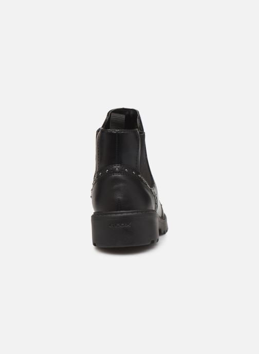 Ankle boots Geox J Casey Girl J9420E Black view from the right