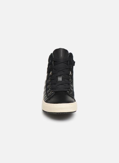 Baskets Geox J Kalispera Girl J944GH Noir vue portées chaussures