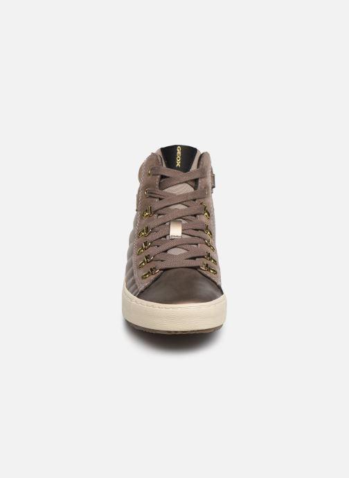 Baskets Geox J Kalispera Girl J944GH Or et bronze vue portées chaussures