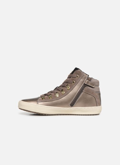 Trainers Geox J Kalispera Girl J944GH Bronze and Gold front view
