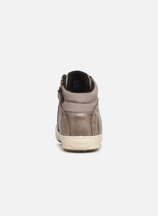 Sneakers Geox J Kalispera Girl J944GH Goud en brons rechts