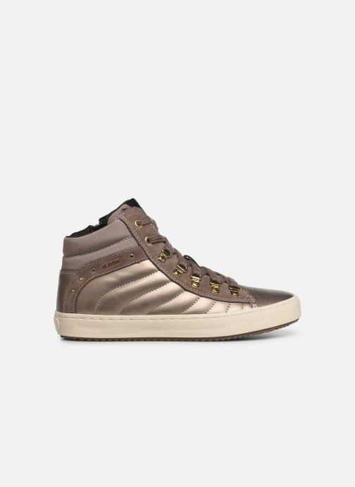 Trainers Geox J Kalispera Girl J944GH Bronze and Gold back view