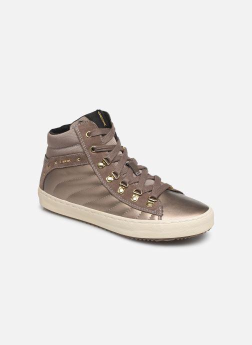 Sneakers Geox J Kalispera Girl J944GH Guld og bronze detaljeret billede af skoene