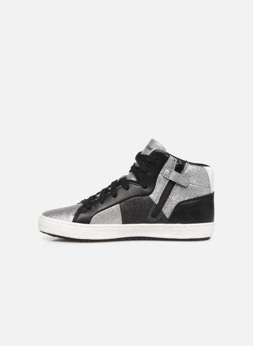 Sneakers Geox J Kalispera Girl J944GP Argento immagine frontale