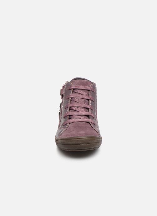 Baskets Geox J Hadriel Girl J947VA Rose vue portées chaussures
