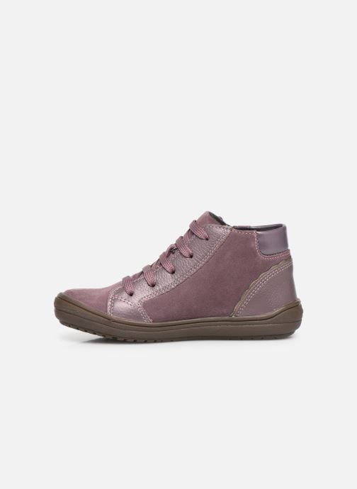 Baskets Geox J Hadriel Girl J947VA Rose vue face