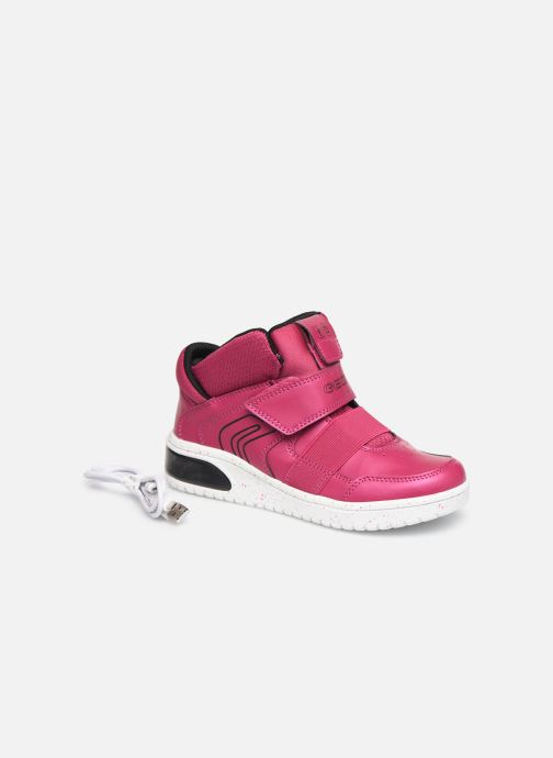 Baskets Geox J Xled Girl J848DA Rose vue 3/4
