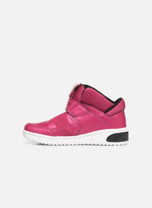 Sneakers Geox J Xled Girl J848DA Pink se forfra