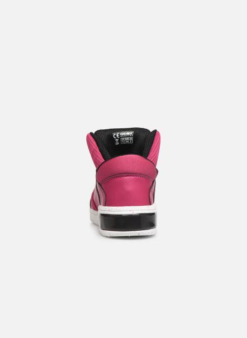 Sneakers Geox J Xled Girl J848DA Pink Se fra højre