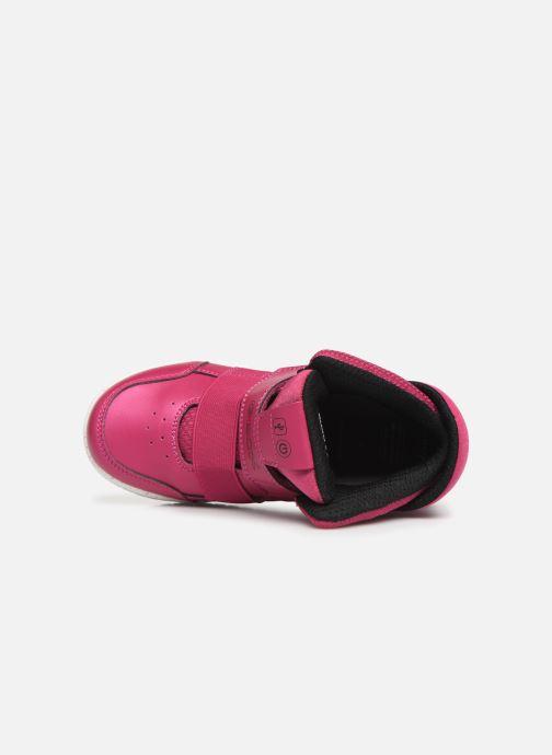 Sneakers Geox J Xled Girl J848DA Pink se fra venstre