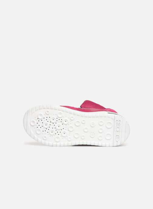 Baskets Geox J Xled Girl J848DA Rose vue haut