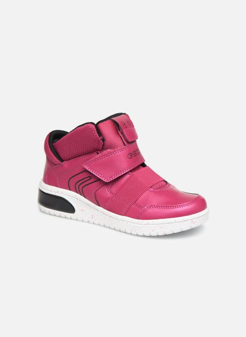 Baskets Geox J Xled Girl J848DA Rose vue détail/paire