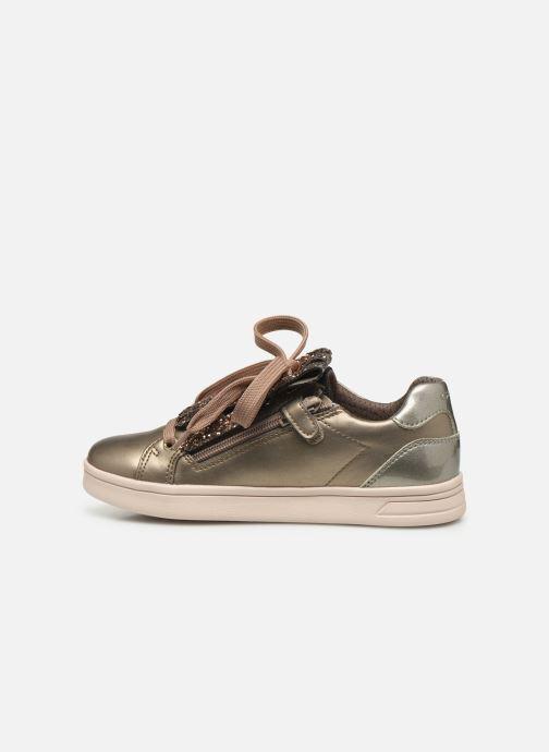 Sneakers Geox J Djrock Girl J944MA Goud en brons voorkant