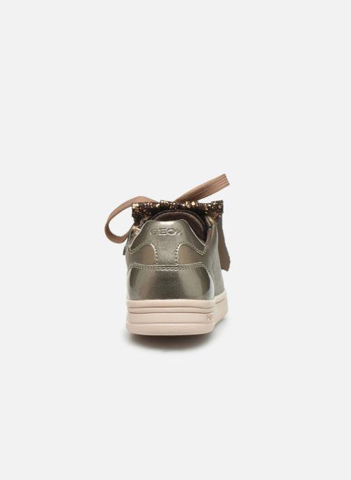 Sneakers Geox J Djrock Girl J944MA Goud en brons rechts