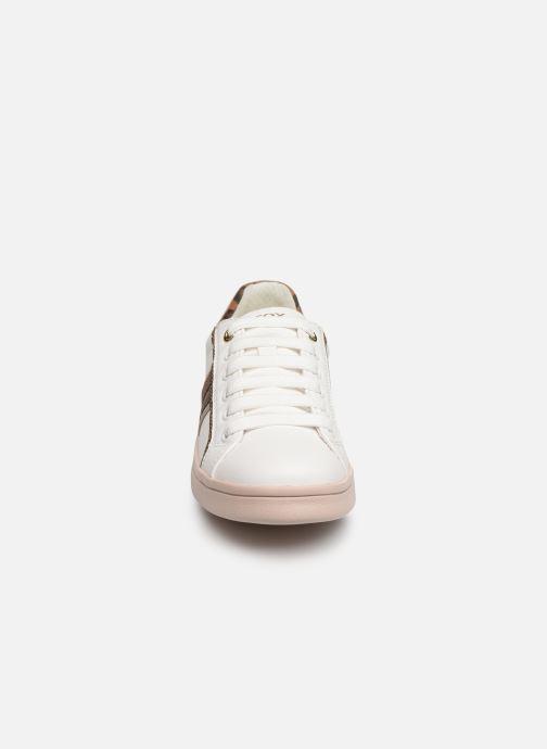 Baskets Geox J Djrock Girl J944MG Blanc vue portées chaussures