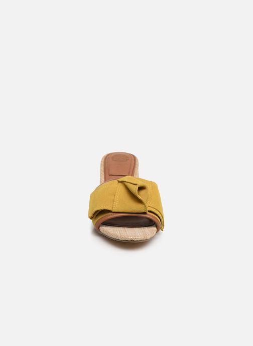 Mules et sabots Gioseppo 44088 Jaune vue portées chaussures