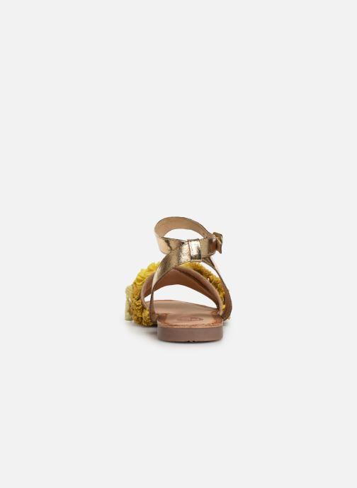 Sandales et nu-pieds Gioseppo 44121 Or et bronze vue droite
