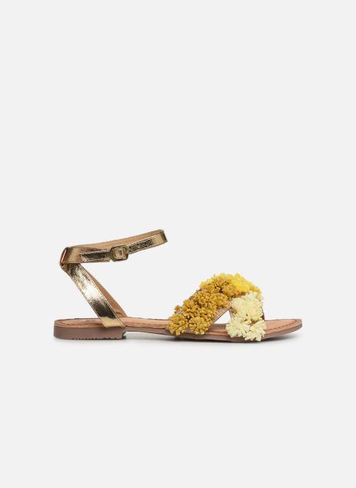 Sandales et nu-pieds Gioseppo 44121 Or et bronze vue derrière